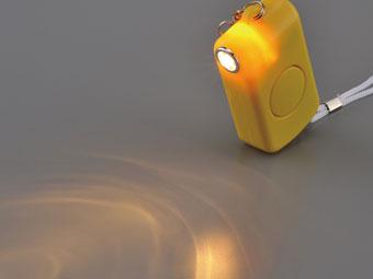 防犯ブザー ガーディアンのライト点灯イメージ