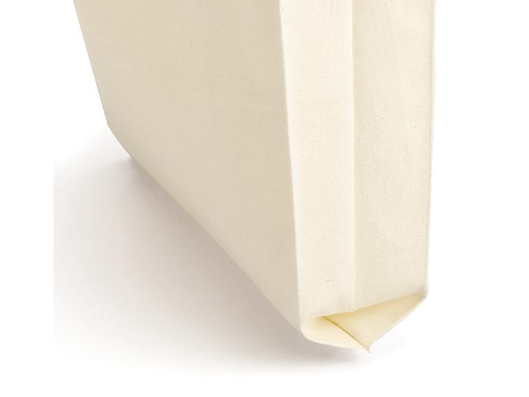ライトキャンバスバッグ横マチ付 ナチュラルの側面部分のアップ