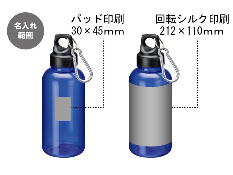 クリアマリンボトルの名入れイメージ